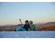 邓莎带儿子滑雪 大麟子出场乌龟